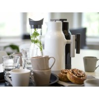 Accent coffeee pot white steelbottle